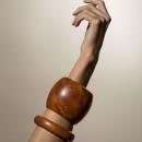 australian hardwood oval cuff bracelet