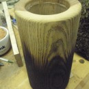 charred wood pot - tall 2